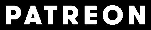 Patreon wordmark white text